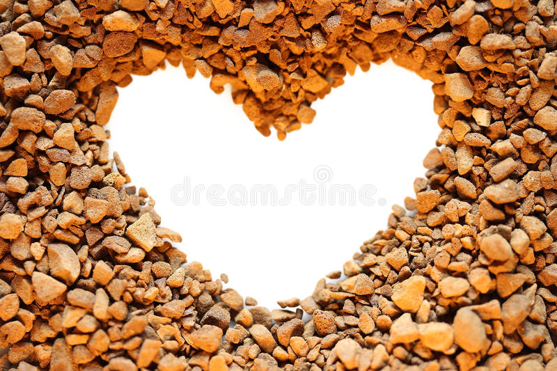 Download Coffee and Heart stock image. Image of brown, single - 12736291