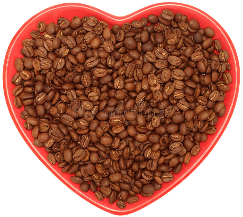 Coffee Heart Royalty Free Stock Photography