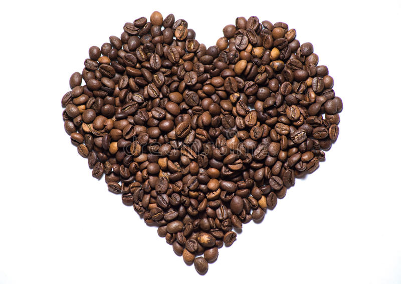 Coffee - heart royalty free stock image