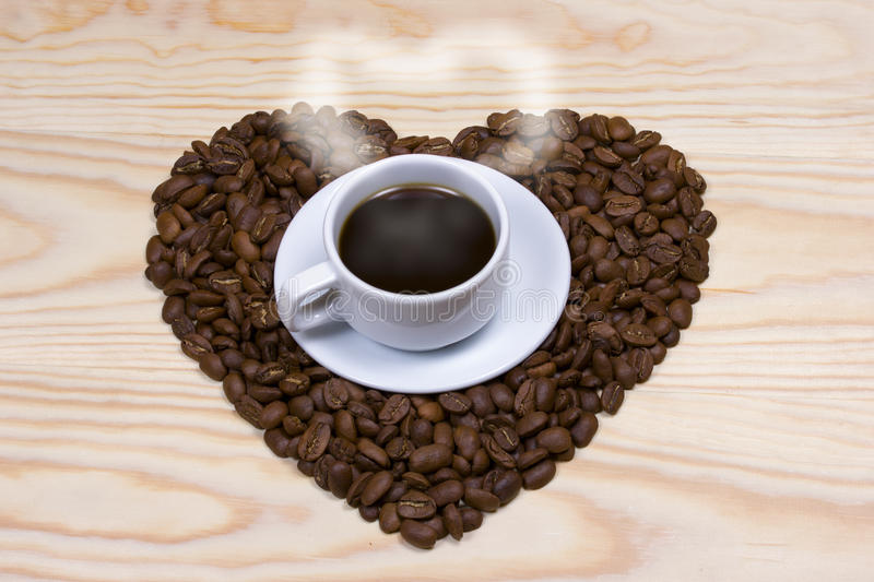 Coffee,heart,coffee beans royalty free stock images