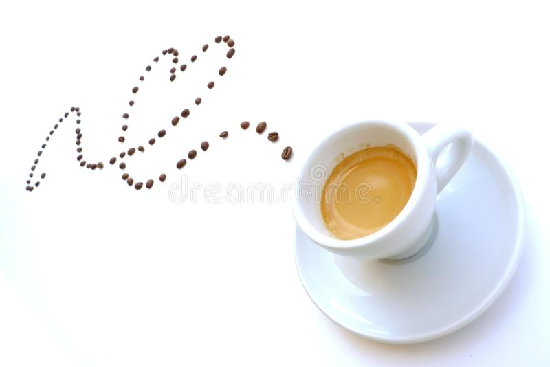 Coffee Heart Trail royalty free stock photo