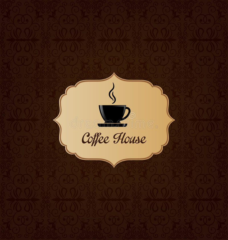 Coffee house menu cover stock illustration