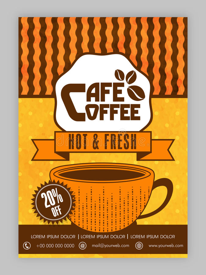 Coffee House Template Brochure Or Flyer Design Stock