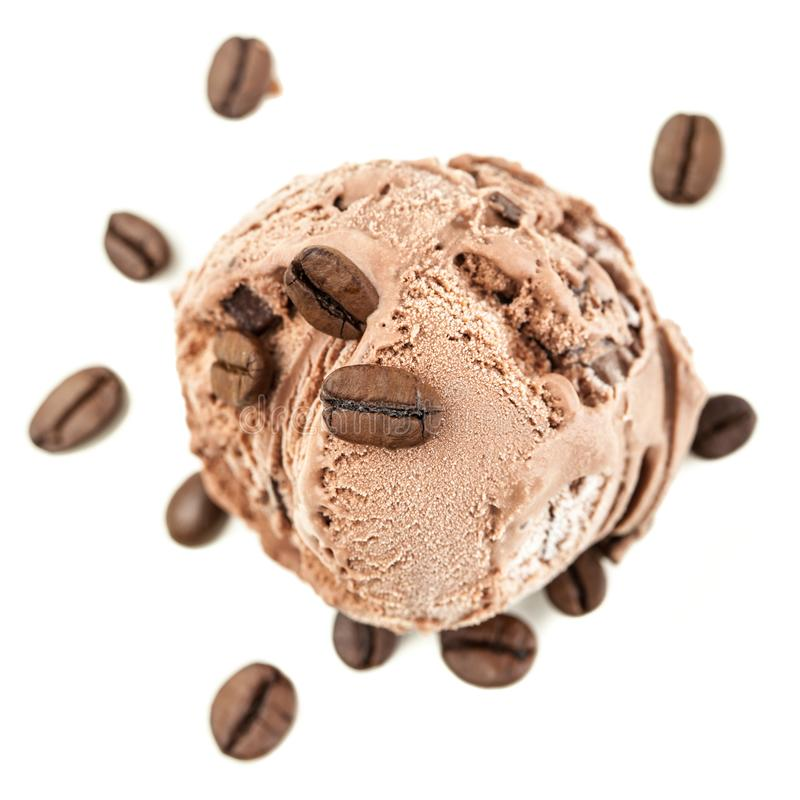 A coffee ice ball from above royalty free stock photo