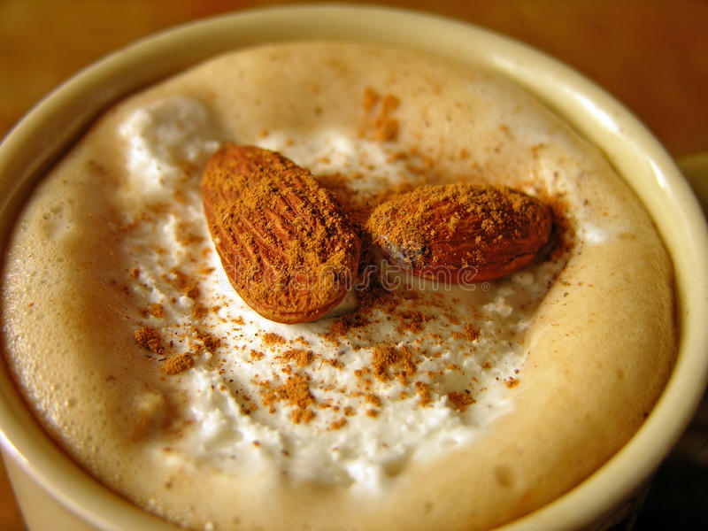 Coffee with ice-cream royalty free stock photos