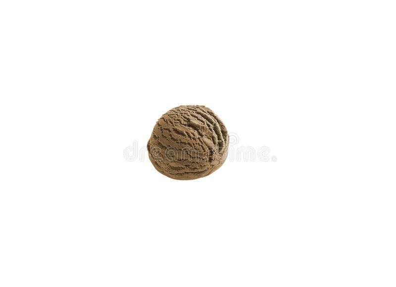 coffee ice cream ball scoop royalty free stock images