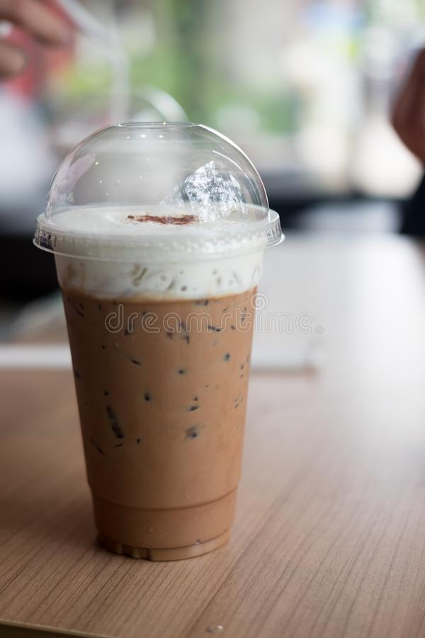 Coffee iced coffee mocha. In cafe royalty free stock image