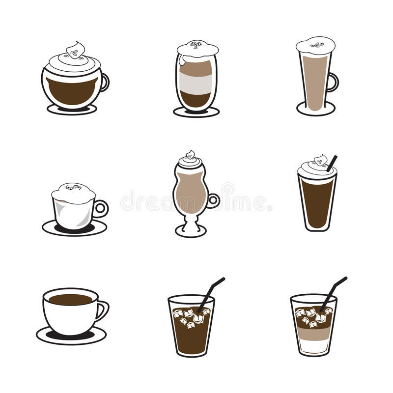 Coffee icon set vector illustration