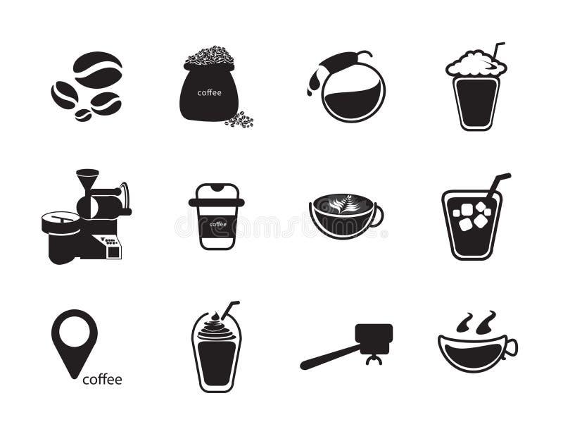 Coffee icon set stock illustration