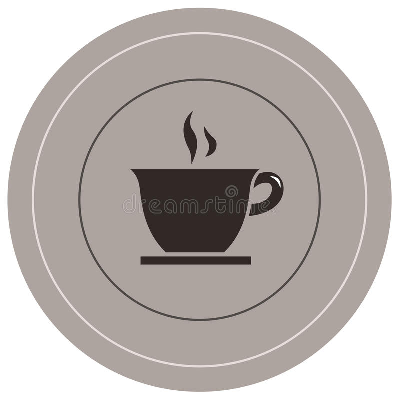 Coffee icon. Vector file of coffee icon stock illustration