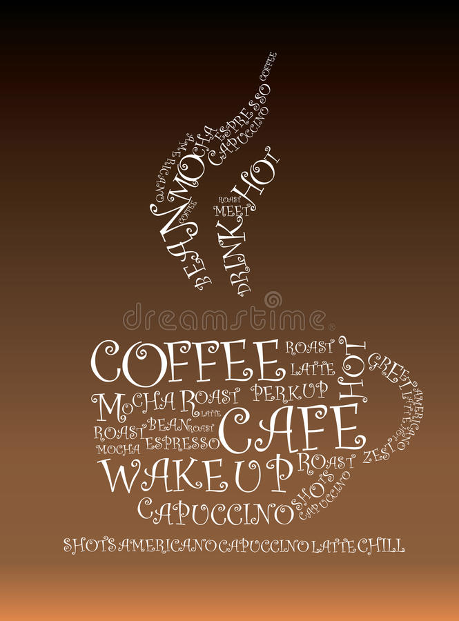 Download Coffee illustration stock vector. Image of latte, abstract - 12717460
