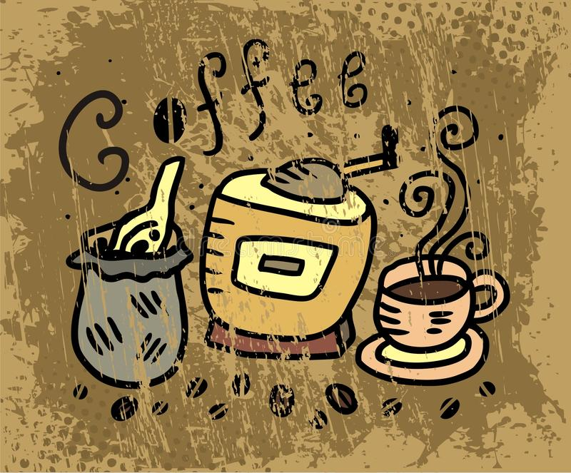 Download Coffee image stock vector. Illustration of revival, espresso - 24709599