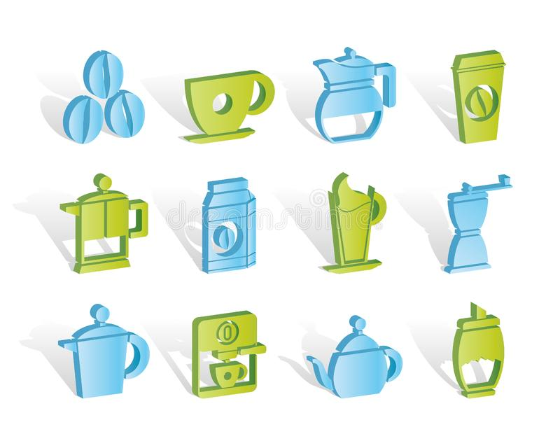 Download Coffee Industry Signs And Icons Stock Vector - Illustration of grinder, kitchen: 14389856