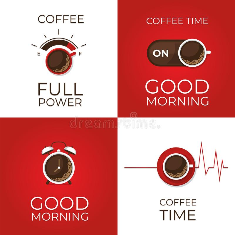 Coffee infographic. Types of coffee. Flat style, vector illustration. royalty free stock image