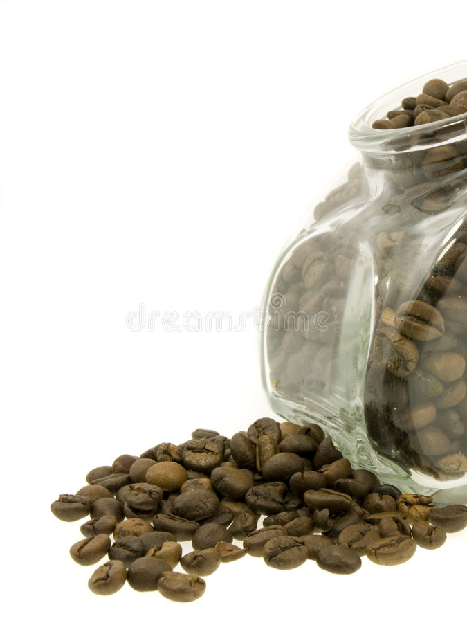 Free Coffee Jar Of Beans Royalty Free Stock Images - 3187809