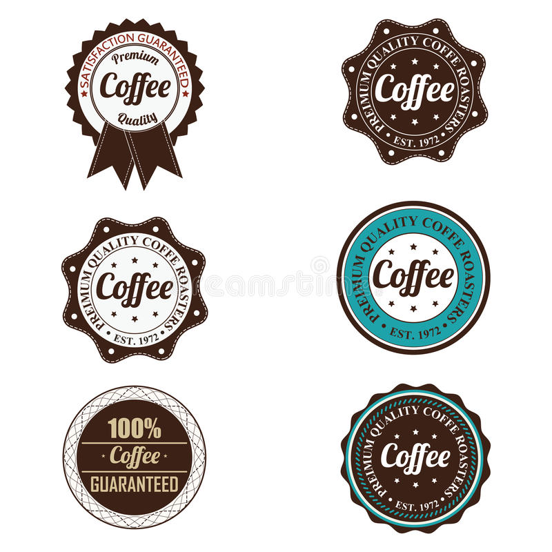 Coffee Labels Stock Images