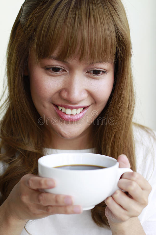 Download Coffee Lady stock photo. Image of happy, pretty, beautiful - 21980454