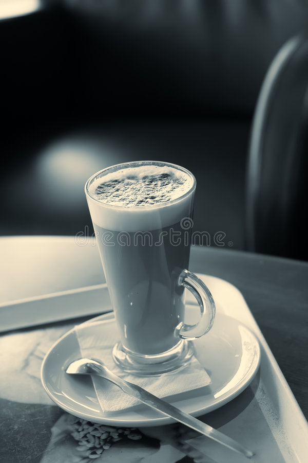 Free Coffee Latte Abstract Yellowish Blue Color Royalty Free Stock Photos - 5213788