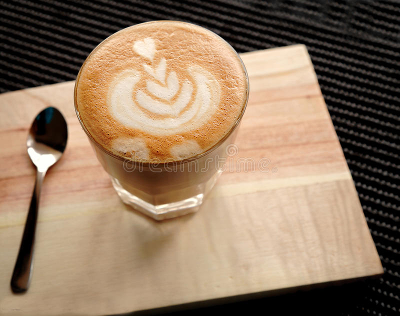 Cappuccino or Latte Tulip Art royalty free stock image