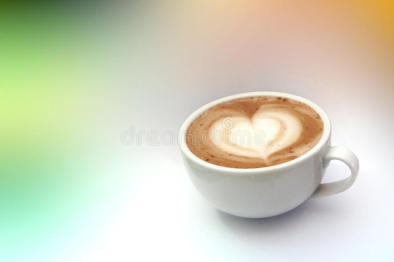Coffee latte art stock image