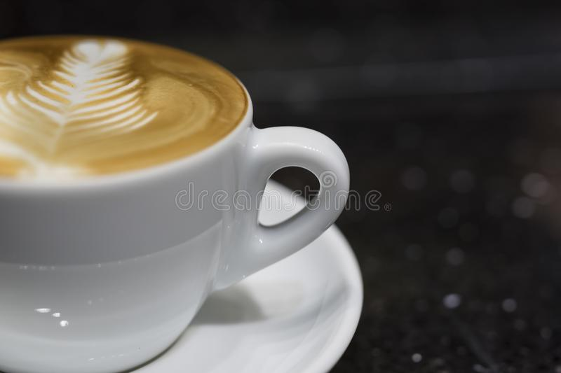 Coffee. Latte Art and  Making process royalty free stock photography