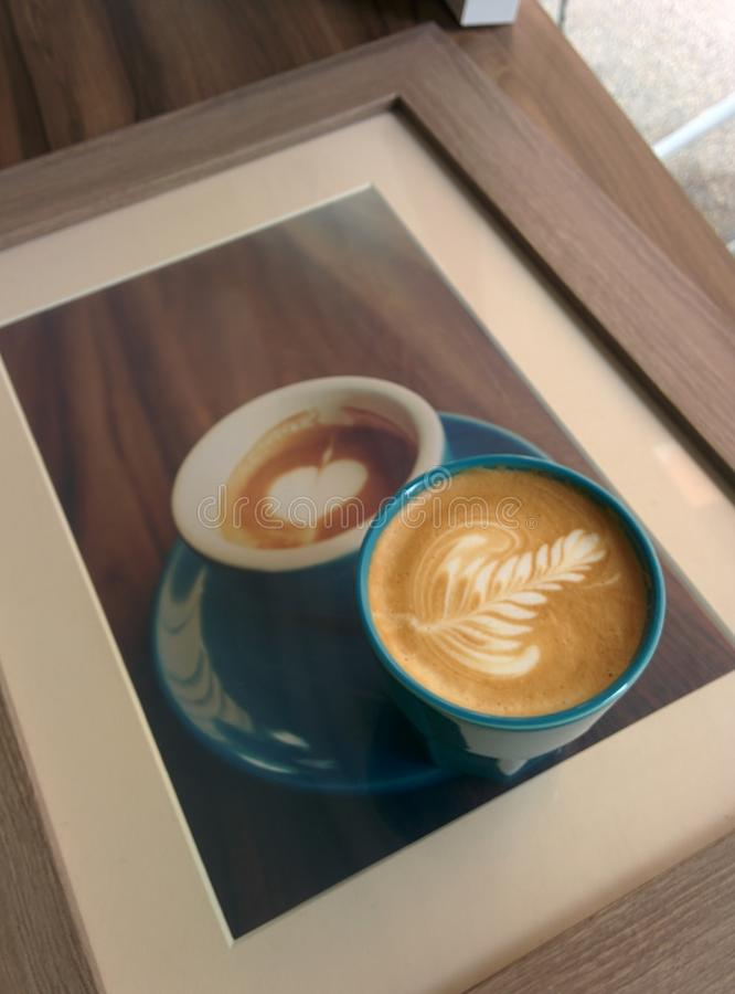 Coffee Latte Art royalty free stock photography