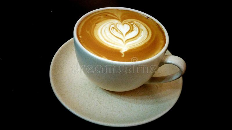 Coffee Latte art royalty free stock photography