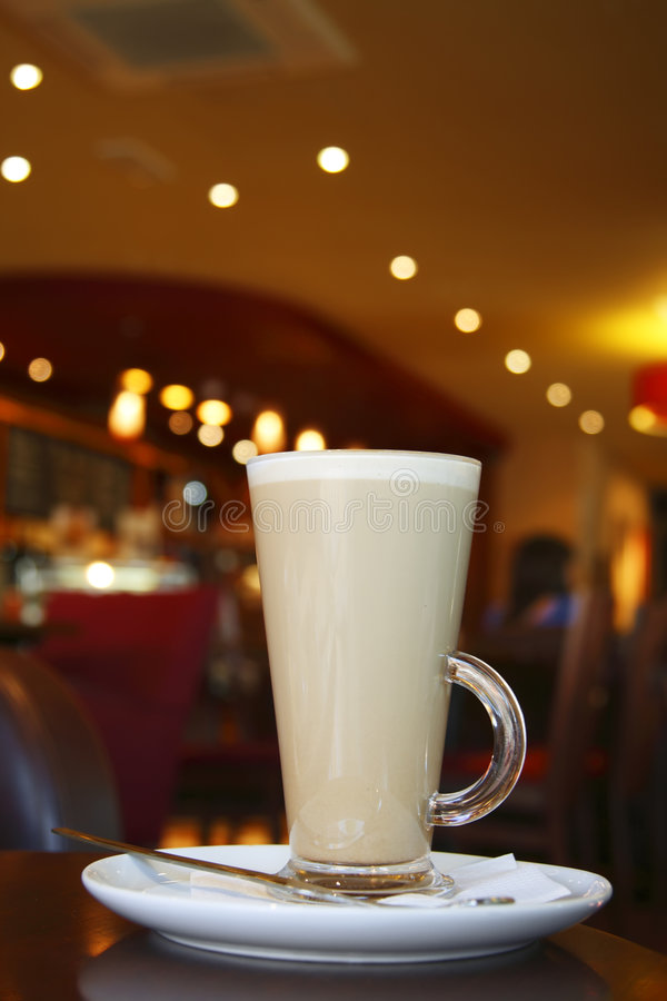 Download Coffee - Latte Cappuccino In A Tall Glass Stock Image - Image: 5606049