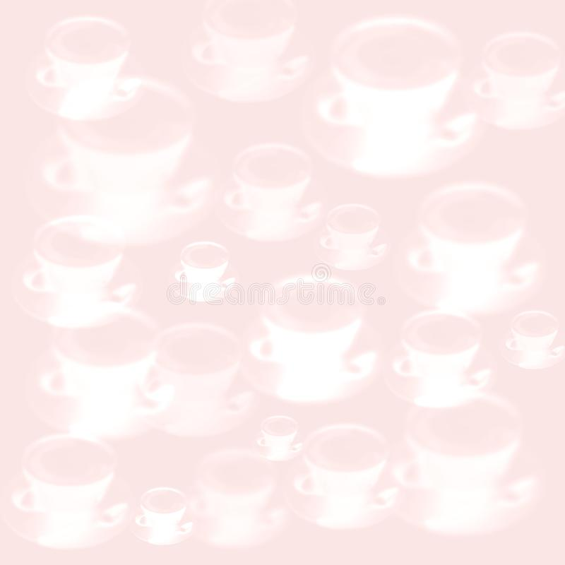 Coffee Latte Capuchino cup close up pink purple texture vector illustration