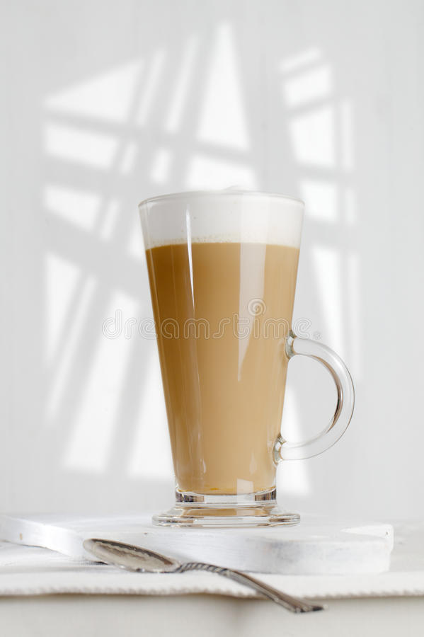 Download Coffee Latte With Frothy Milk In Tall Glass Stock Photo - Image: 21658884