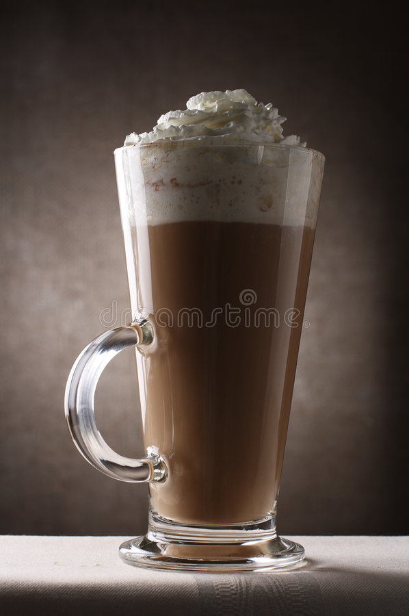 Download Coffee Latte In Tall Glass Rustic Background Stock Image - Image of cappuchino, aroma: 4549861