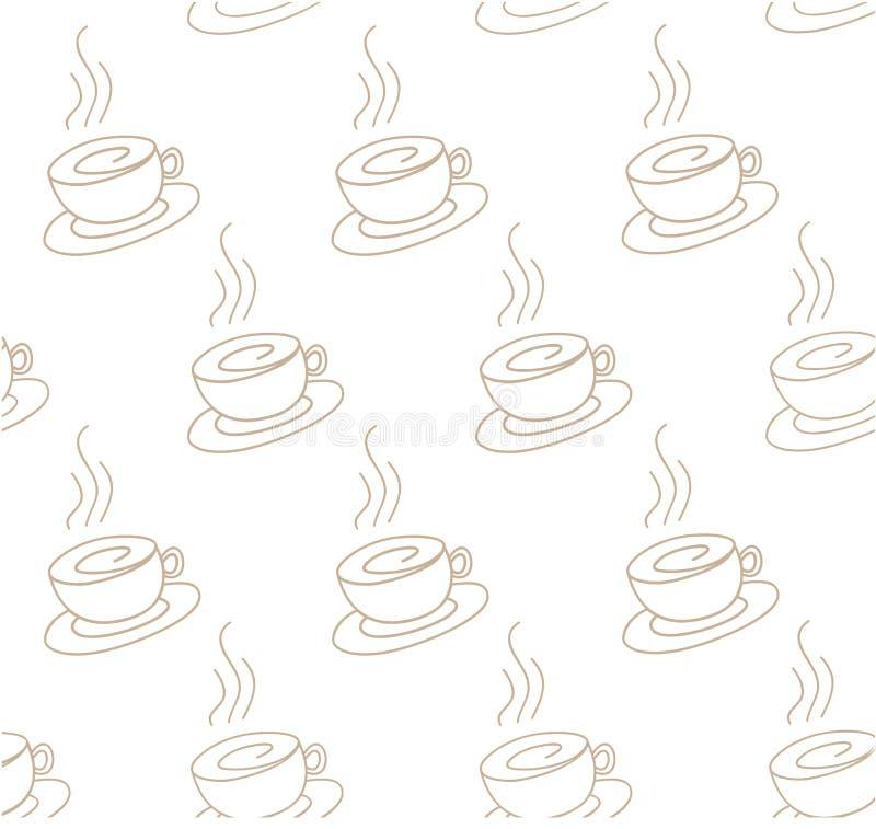 Coffee light pattern stock illustration