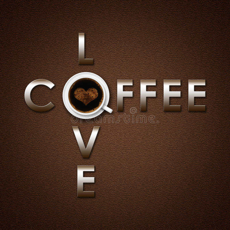 Coffee love background royalty free stock photo