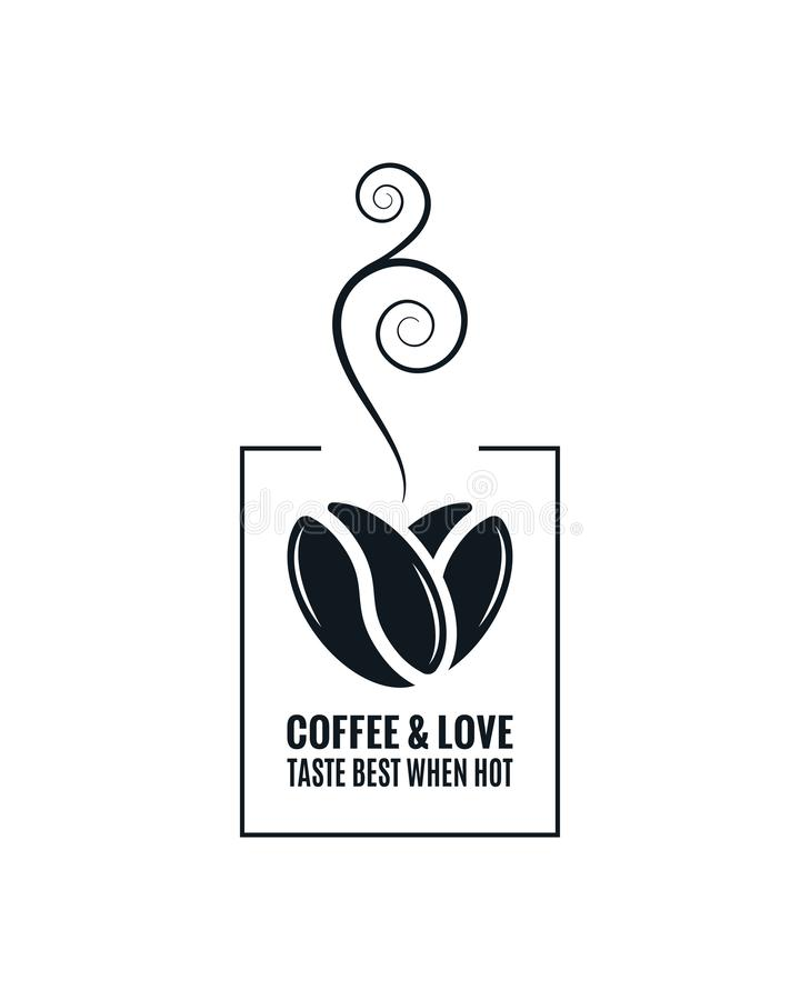Free Coffee Love Concept. Coffee Beans Design On White Royalty Free Stock Photos - 155534558