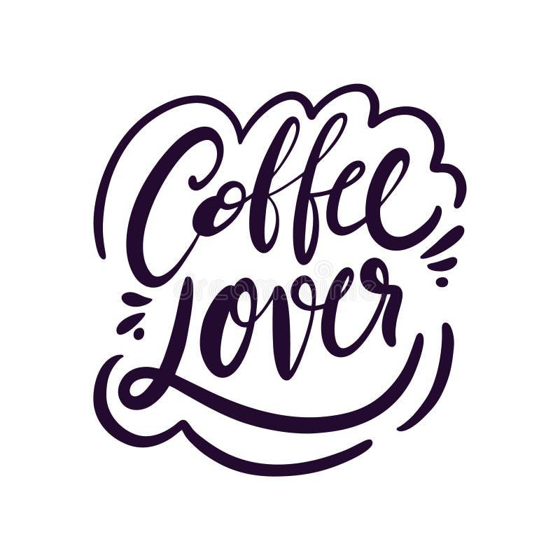 Download Coffee lover stock illustration. Illustration of ...