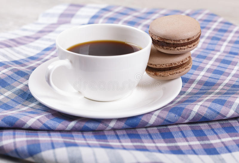 Coffee and macaroons royalty free stock images