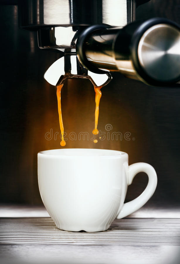 Free Coffee Machine Pouring Espresso Coffee Stock Photos - 27520403