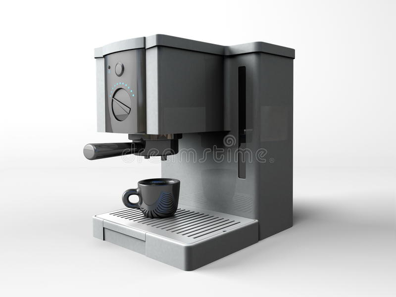 Coffee maker. On the white background vector illustration