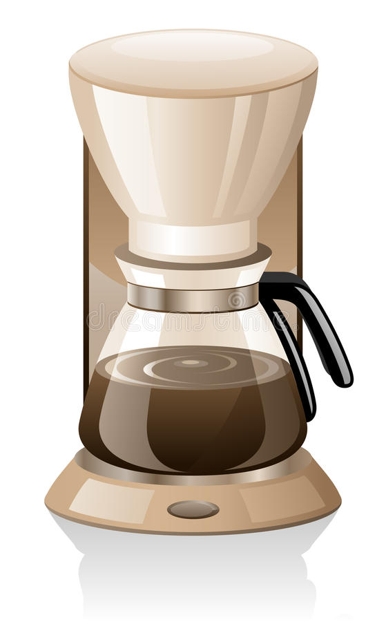 Coffee maker. Isolated on white background vector illustration