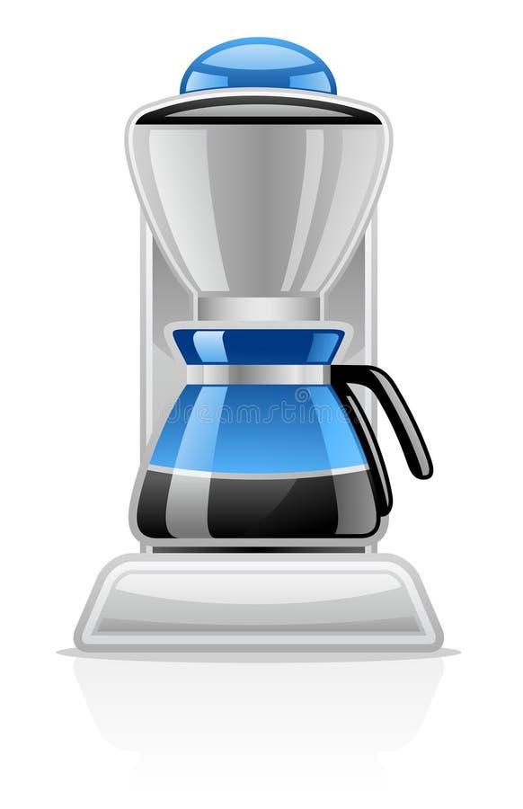 Coffee Maker. Vector illustration of Coffee Maker on white background stock illustration
