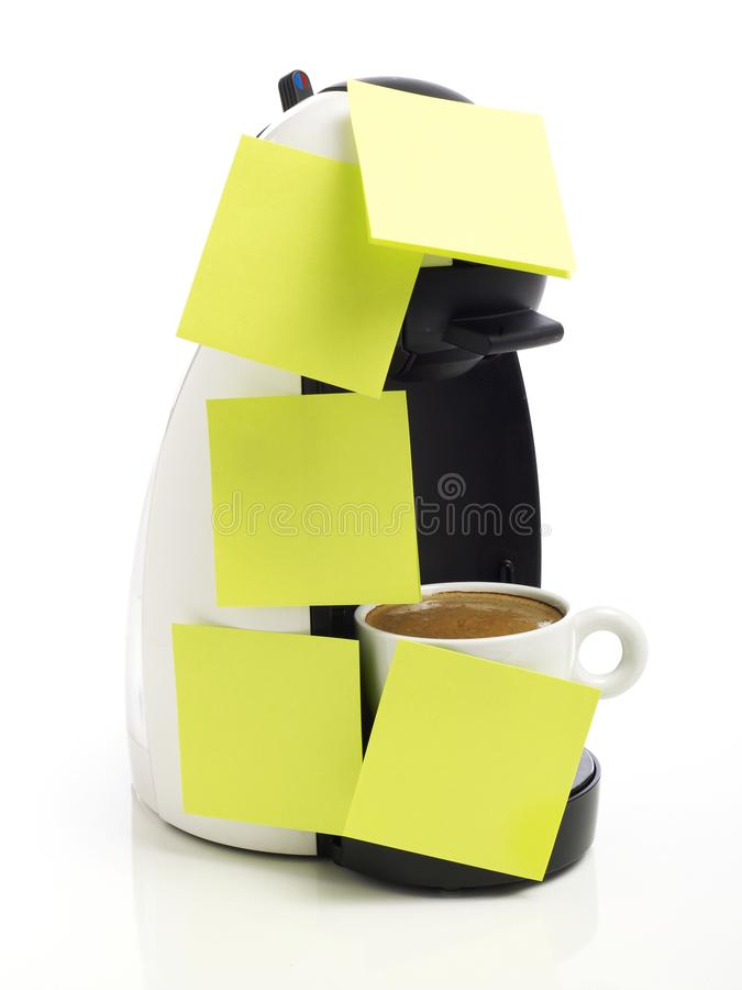 Coffee maker on white stock photos