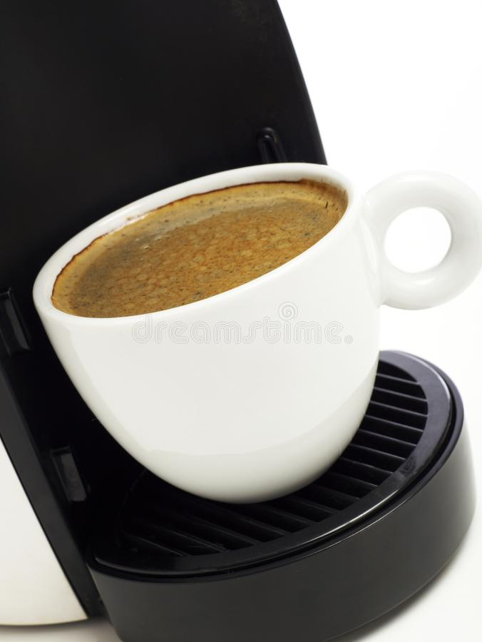 Coffee maker close-up royalty free stock image