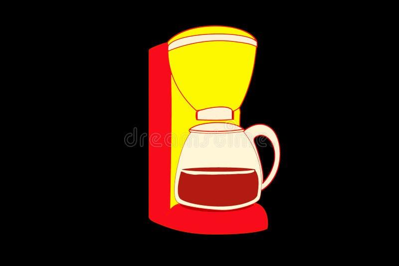 Coffee maker. Icon on dark background royalty free illustration