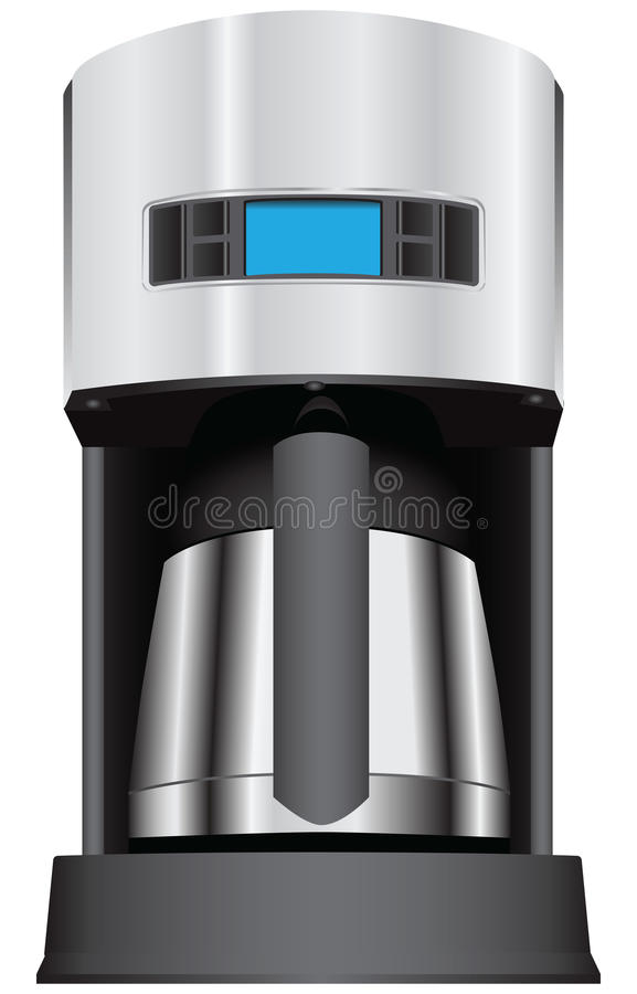 Coffee maker with display. Coffee maker with the display. Vector illustration stock illustration
