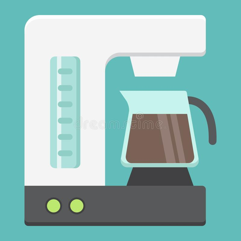 Coffee maker flat icon, kitchen and appliance. Vector graphics, a colorful solid pattern on a white background, eps 10 stock illustration