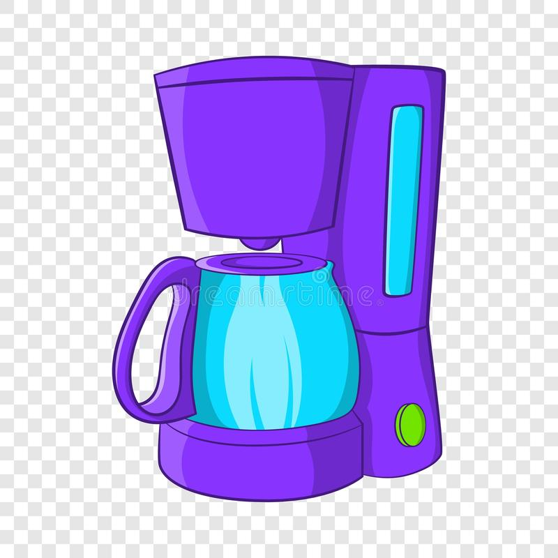 Coffee maker icon, cartoon style. Coffee maker icon in cartoon style isolated on background for any web design royalty free illustration