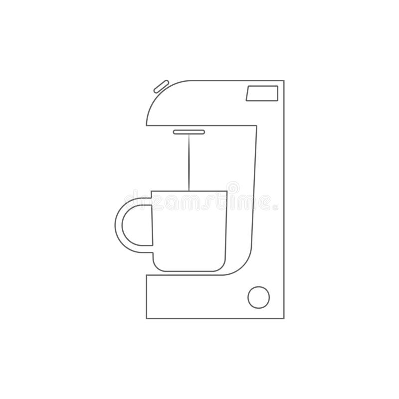 Coffee maker icon. Element of Electro for mobile concept and web apps icon. Thin line icon for website design and development, app. Development on white royalty free illustration