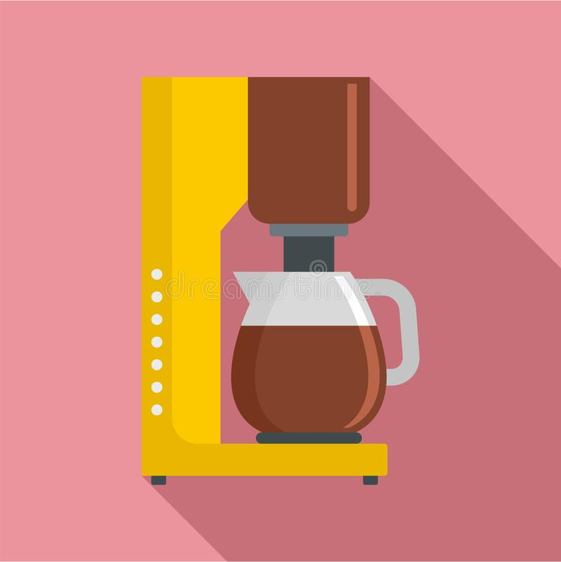 Coffee maker icon, flat style. Coffee maker icon. Flat illustration of coffee maker icon for web design royalty free illustration