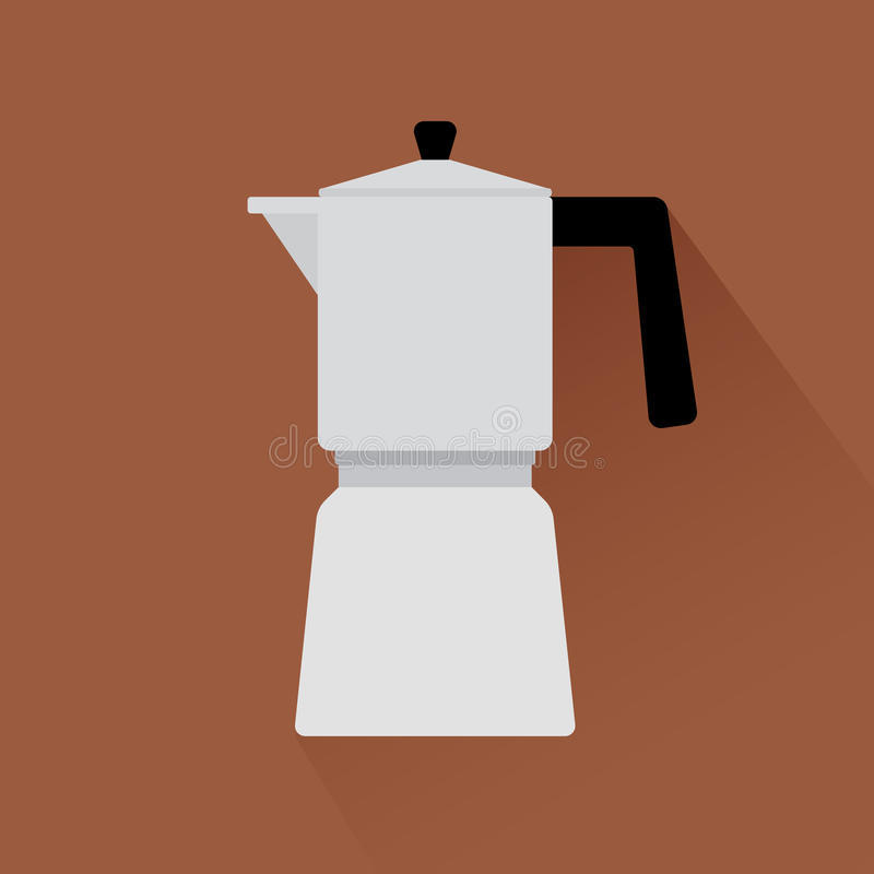 Coffee maker icon with shadow. Coffee maker flat modern icon with shadow. Vector illustration vector illustration