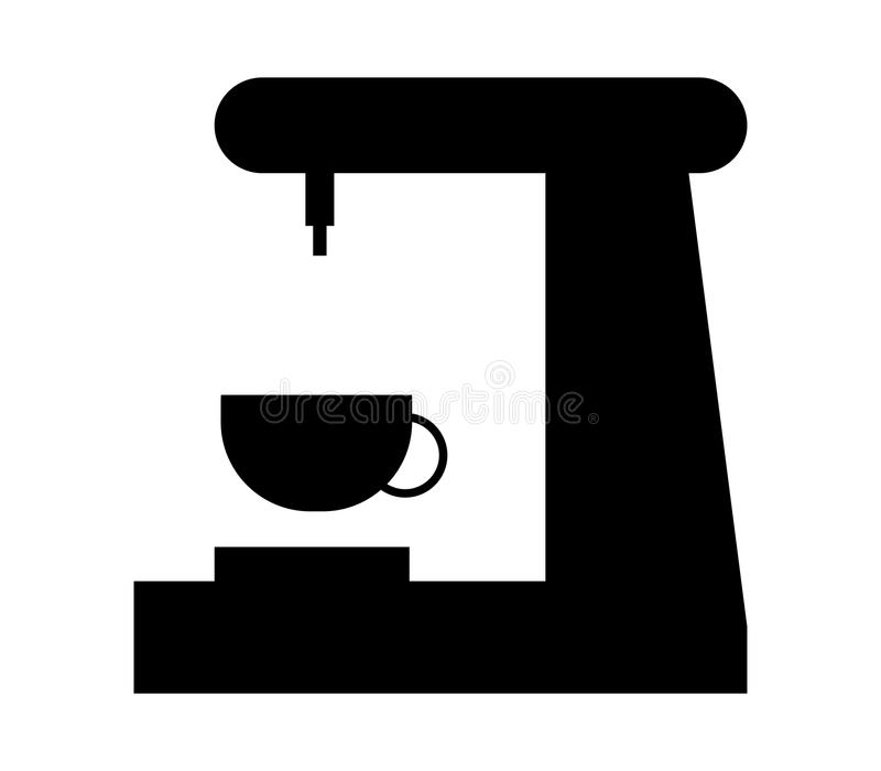 Coffee maker icon. On white background royalty free illustration